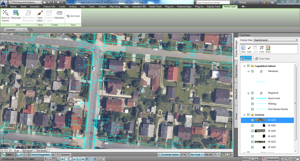 AutoCAD Map 3D _bővebben_ortofoto