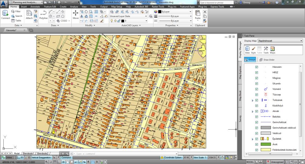 AutoCAD Map 3D _bővebben_megjeleniteskezelo
