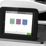 HP PageWide Enterprise Color MFP 780dn vezérlőpultja