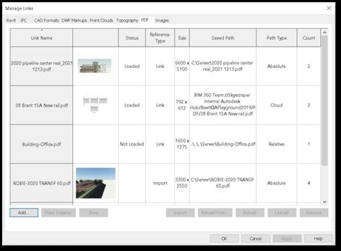 Revit 2021 - PDF és kép csatolása